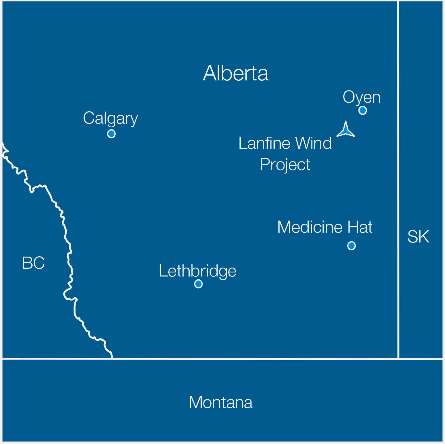 Lanfine-Location